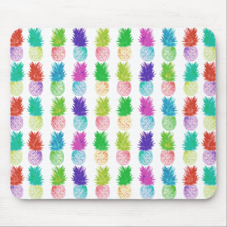 Colorful pop art painting pineapple pattern mouse pad