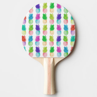 Colorful pop art painting pineapple pattern ping pong paddle