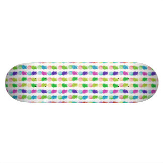 Colorful pop art painting pineapple pattern skateboards