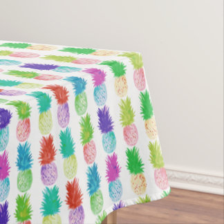 Colorful pop art painting pineapple pattern tablecloth