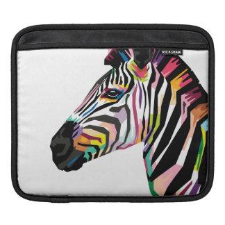 Colorful Pop Art Zebra on White Background iPad Sleeve