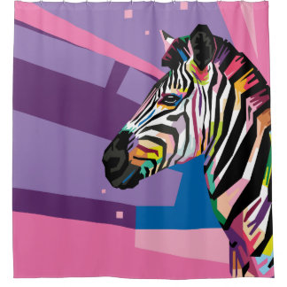 Colorful Pop Art Zebra Portrait