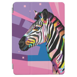 Colorful Pop Art Zebra Portrait iPad Air Cover