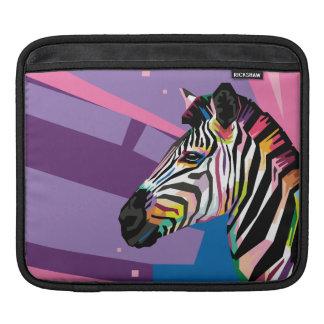 Colorful Pop Art Zebra Portrait iPad Sleeve