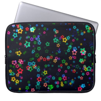 Colorful Pop Neon Star Laptop Sleeve