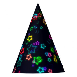 Colorful Pop Neon Star Party Hat