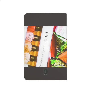 Colorful pop photo note black journals