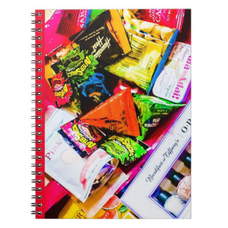 Colorful pop photo ring note red notebook