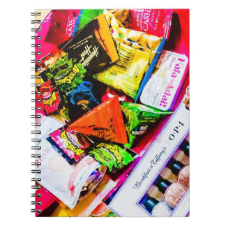 Colorful pop photo ring note spiral notebook