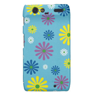 Colorful popart flower pattern droid RAZR cover
