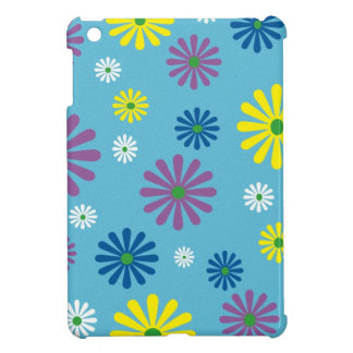 Colorful popart flower pattern iPad mini cover