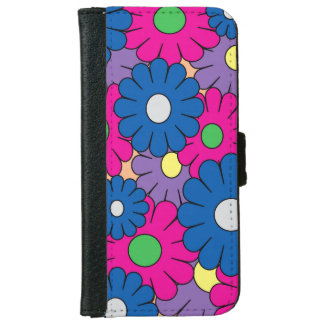 Colorful popart flowers iphone wallet case iPhone 6 wallet case