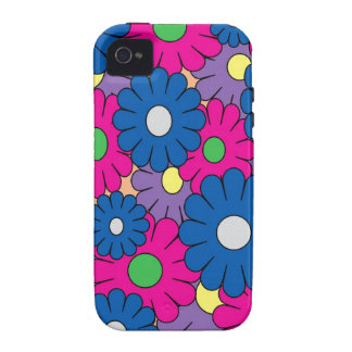 Colorful popart flowers pattern iPhone 4/4S case