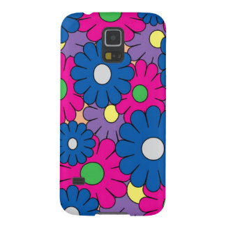 Colorful popart flowers pattern galaxy nexus cover