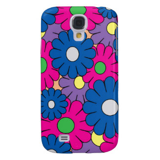 Colorful popart flowers pattern samsung galaxy s4 case