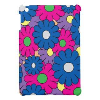Colorful popart flowers pattern iPad mini covers