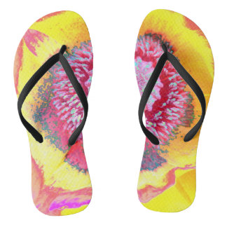 Colorful Poppy Flip Flops