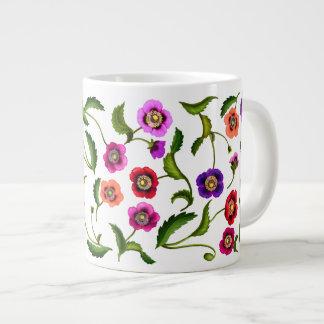 Colorful Poppy Garden Flowers Jumbo Mug