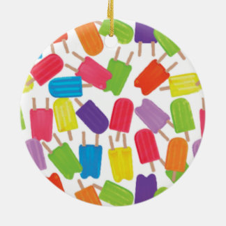 Colorful Popsicles! Ceramic Ornament