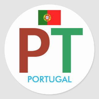 Colorful Portugal PT Circular Sticker