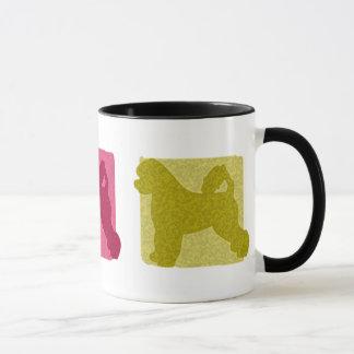 Colorful Portuguese Water Dog Silhouettes Mug