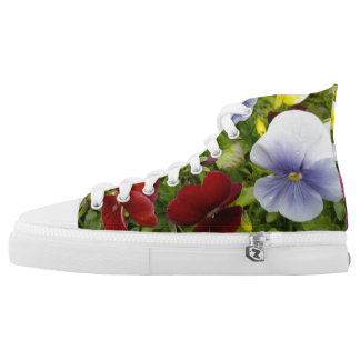 COLORFUL PRETTY PANSY HIGH TOPS