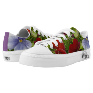 COLORFUL PRETTY PANSY  LOW TOPS