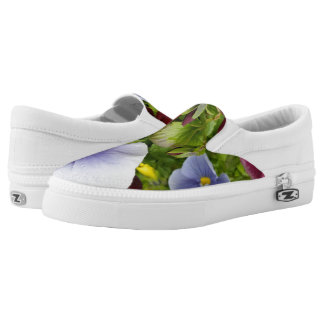COLORFUL PRETTY PANSY SLIPONS Slip-On SNEAKERS