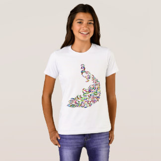 Colorful Prismatic Peacock Bird Novelty T-Shirt