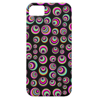 Colorful Psych Spots + your background & idea iPhone 5 Cases