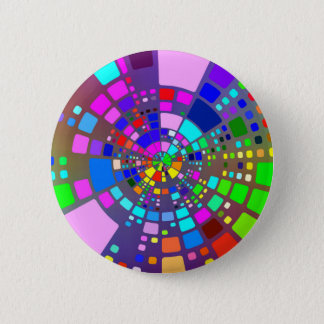Colorful psychedelic #2 2 inch round button