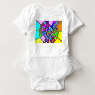 Colorful psychedelic #2 baby bodysuit