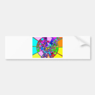 Colorful psychedelic #2 bumper sticker