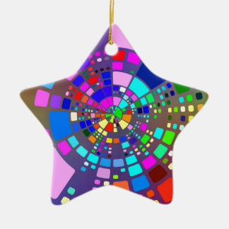 Colorful psychedelic #2 ceramic ornament