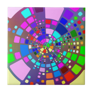 Colorful psychedelic #2 tile