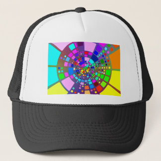 Colorful psychedelic #2 trucker hat