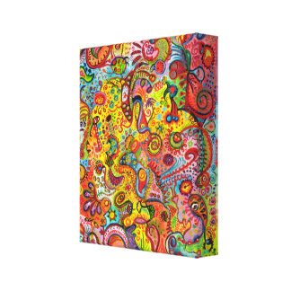 Colorful Psychedelic Art Canvas Print
