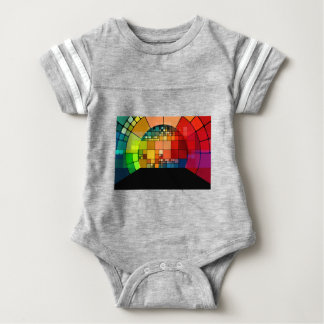 Colorful psychedelic baby bodysuit