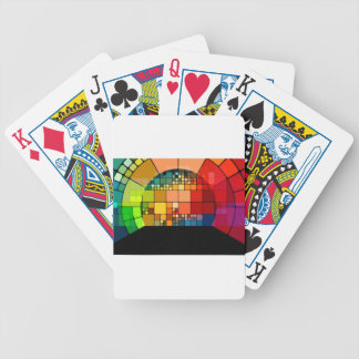 Colorful psychedelic bicycle playing cards