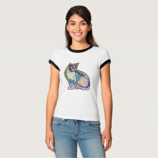 Colorful psychedelic cat T-Shirt