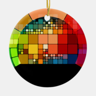 Colorful psychedelic ceramic ornament