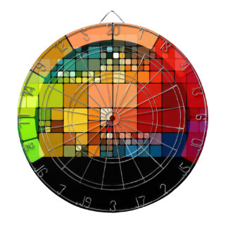 Colorful psychedelic dartboard