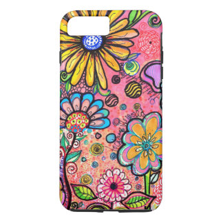 Colorful Psychedelic Flower Drawing Case-Mate iPhone Case