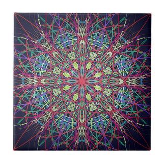 Colorful Psychedelic Fractal Tile