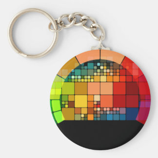 Colorful psychedelic keychain