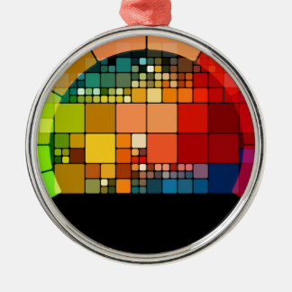 Colorful psychedelic metal ornament