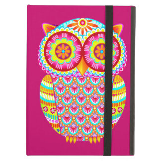 Colorful Psychedelic Owl iPad Case with Kickstand
