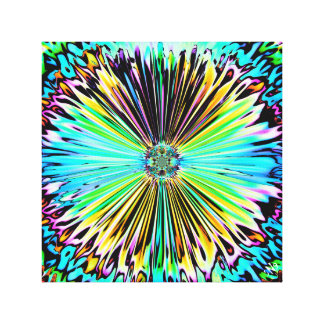 Colorful psychedelic sketch of a flower 2 canvas print