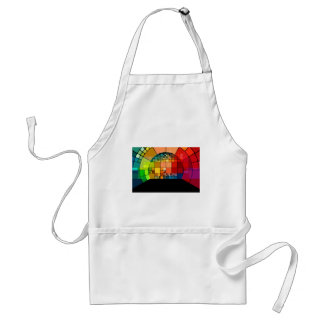 Colorful psychedelic standard apron