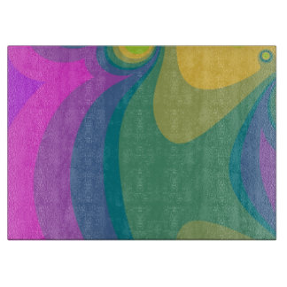 Colorful Psychedelic Swirls Cutting Board